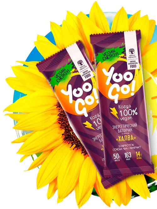 Батончики Yoo Go со вкусом «Халва»